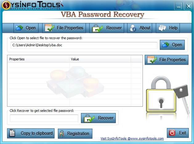 how to break the vba project password in excel