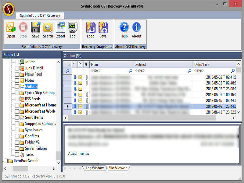 SysInfo OST File Recovery full screenshot