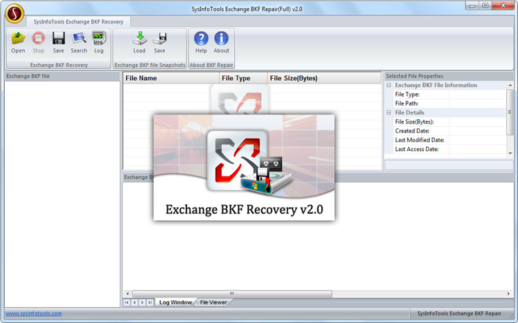 MS Exchange BKF Recovery full screenshot