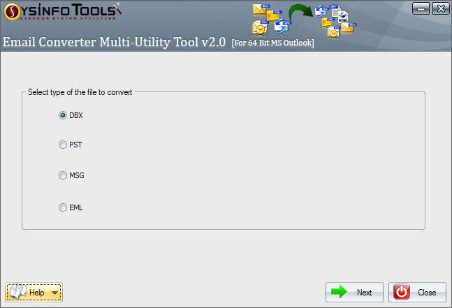 SysInfoTools Email Converter x64 screenshot