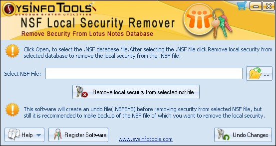 SysInfoTools NSF Local Security Remover.