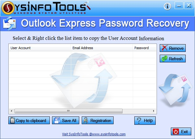 SysInfoTools Outlook Express Password Recovery 3.01