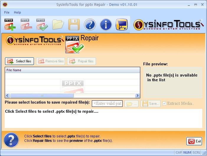 SysinfoTools Pptx Repair v1.0
