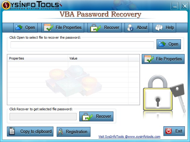 VBA Password Recovery Screen shot