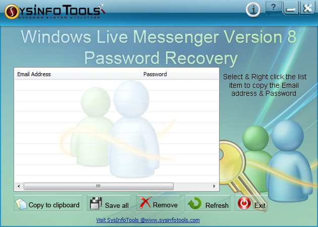 SysInfoTools Windows Live Messenger Password Recovery v1.0