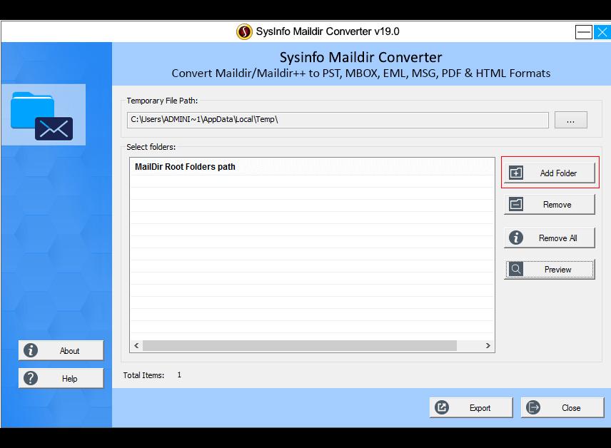 Launch Maildir Converter