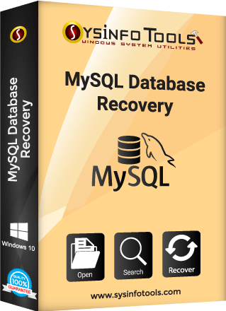 my sql database recovery sysinfo box