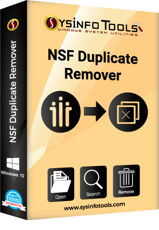 sysinfo NSF Duplicate Remover box