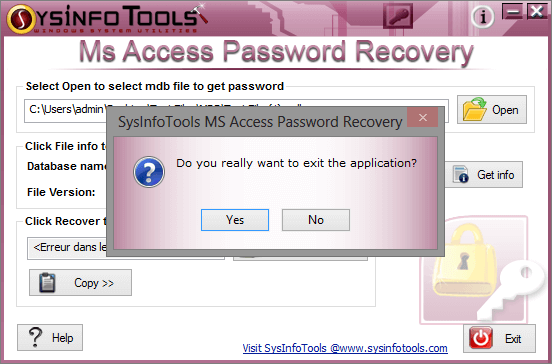 SysInfoTools MDB Password Recovery 1.0