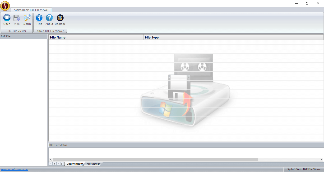 Click to view Sysinfo BKF Viewer 20.0 screenshot