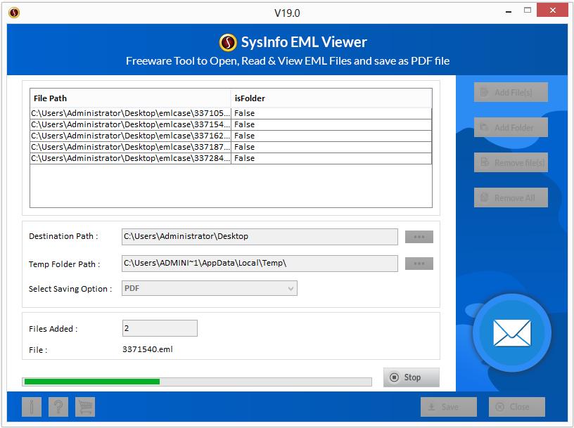 SysInfoTools EML Viewer Software full screenshot