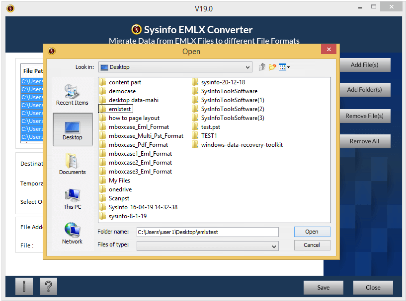 SysInfoTools EMLX Converter full screenshot