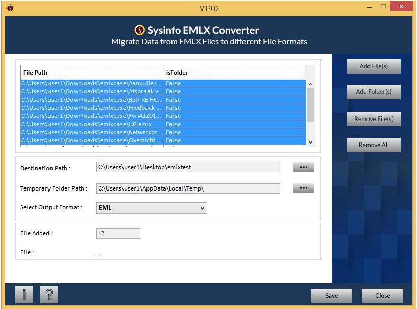 SysInfoTools EMLX Converter full screenshot