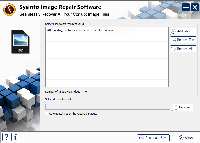 Click to view SysInfoTools Image Repair Software 20.0 screenshot