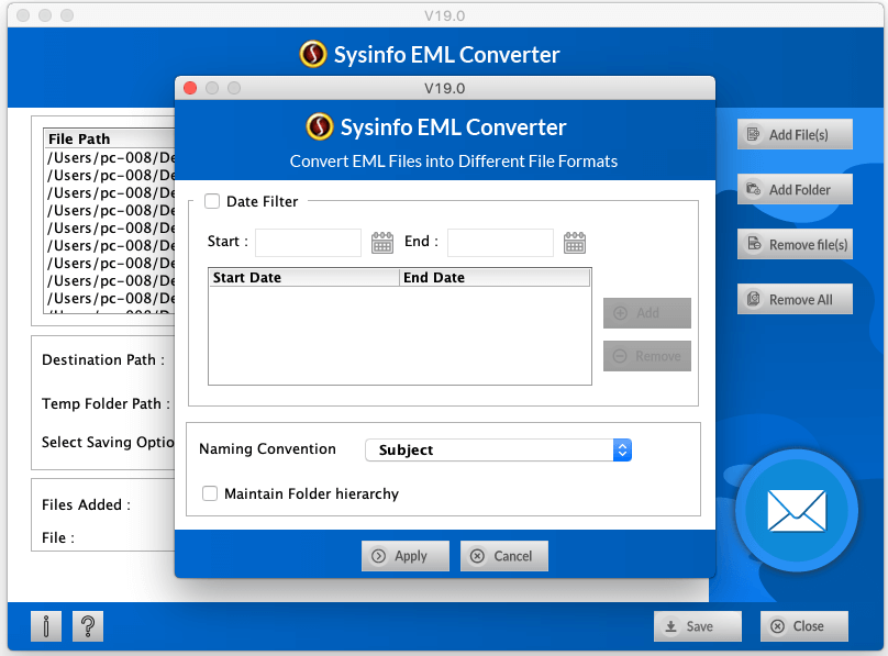 SysInfo Mac EML Converter full screenshot