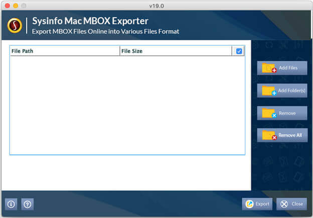 Mac MBOX Converter Step 1
