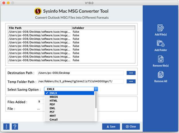 Cigati MAC MSG Converter