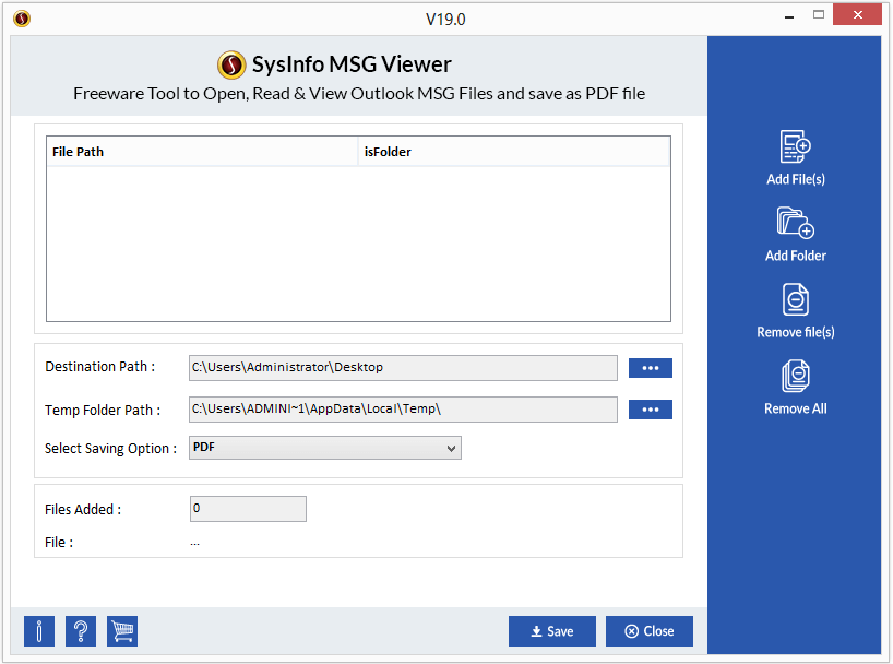 SysInfo MSG Viewer full screenshot