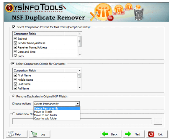 NSF Duplicate Remover step5