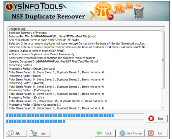 NSF Duplicate Remover step6