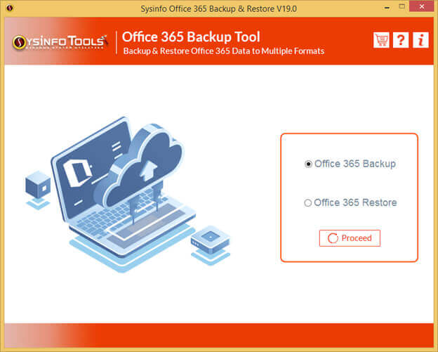 SysInfoTools Office 365 Backup Tool full screenshot