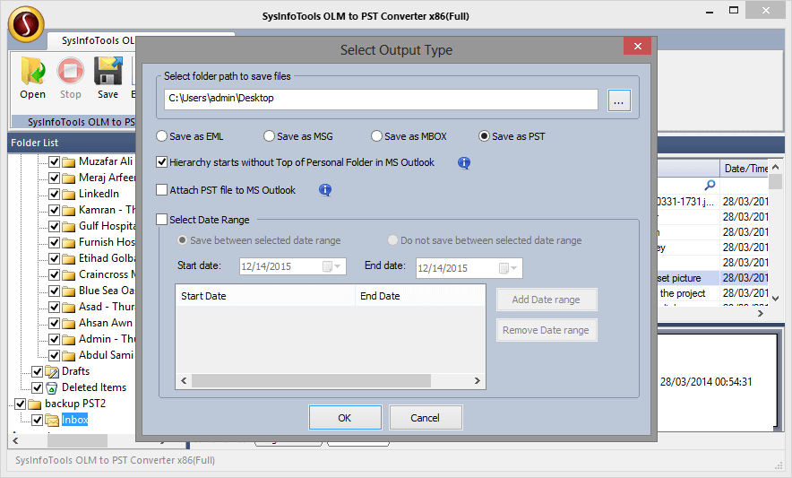 SysInfoTools OLM to PST Converter full screenshot