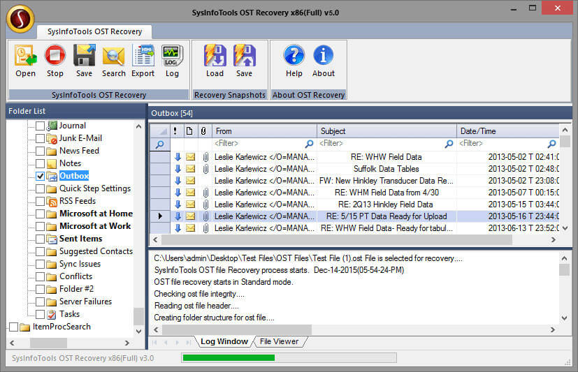 OST to PST File Converter full screenshot