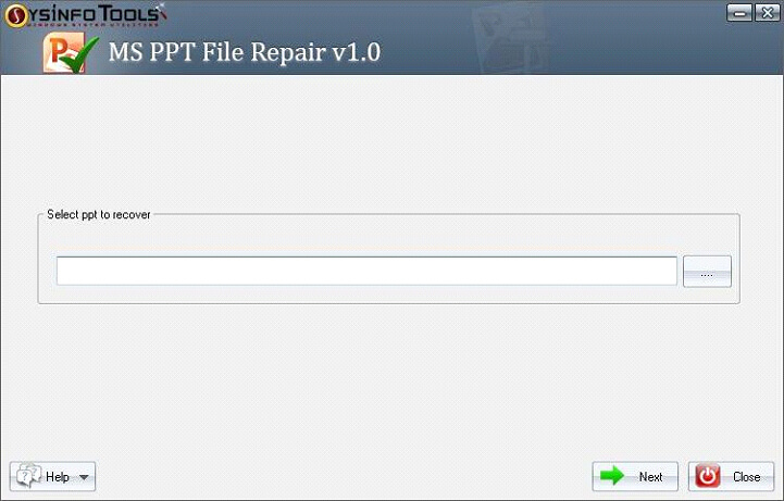 Step 1 MS Powerpoint PPT File Repair
