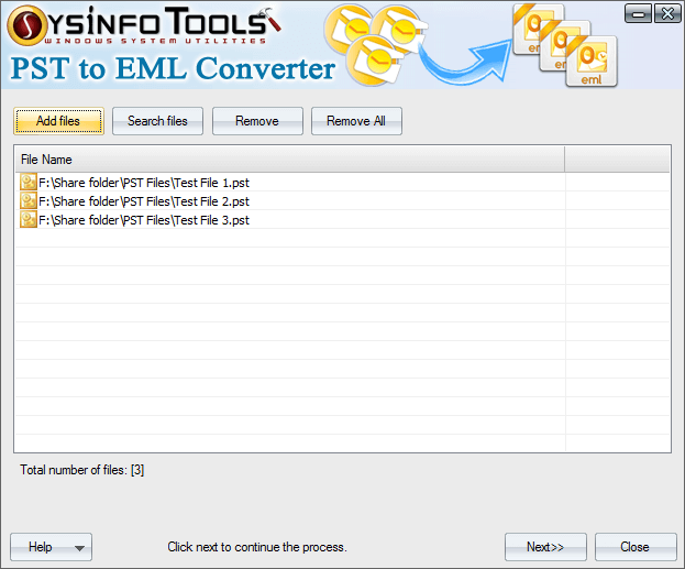 Click to view SysInfoTools PST to EML Converter 1 screenshot