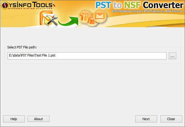 PST to NSF Converter Step 1