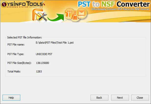 PST to NSF Converter Step 2