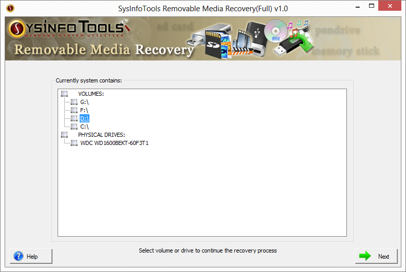 removable media data recovery, recover lost data, restore deleted files, usb data recovery, sd card data recovery, external hard disk recovery, retrieve deleted files, ssd data recovery, CD/DVD recovery