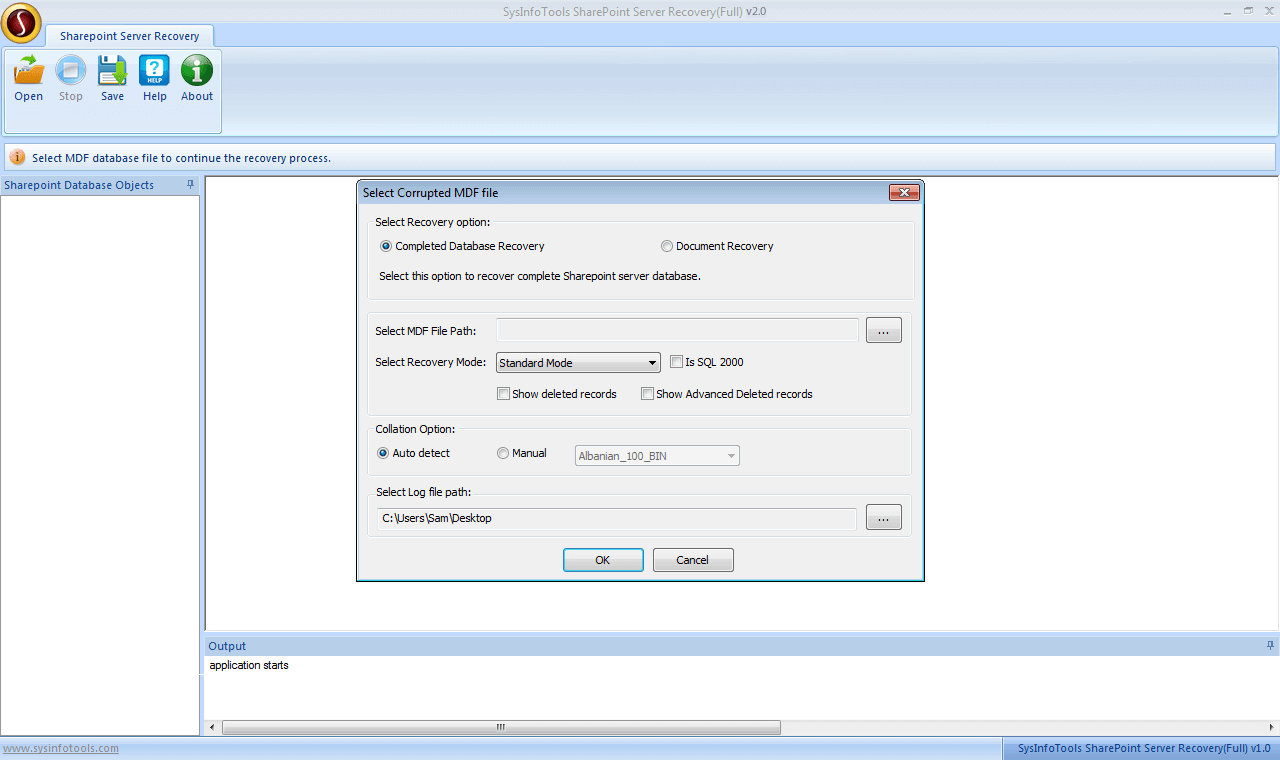 Step 2 SharePoint Server Recovery