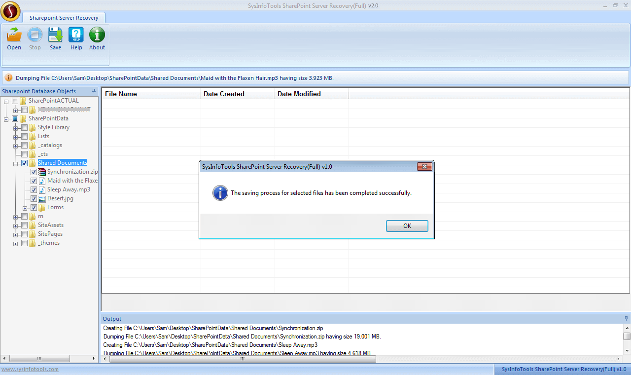 Step 7 SharePoint Server Recovery
