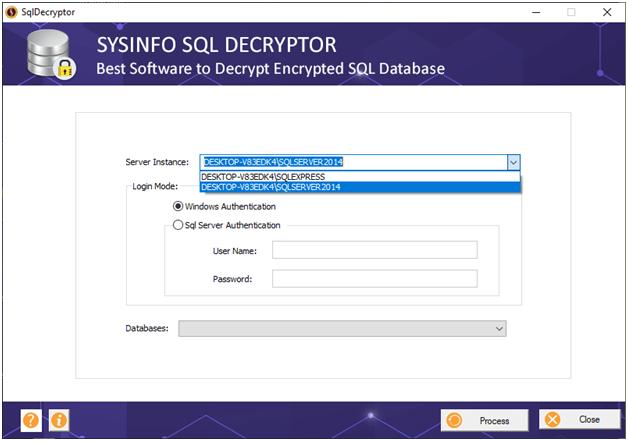 SQL Decryptor Tool full screenshot