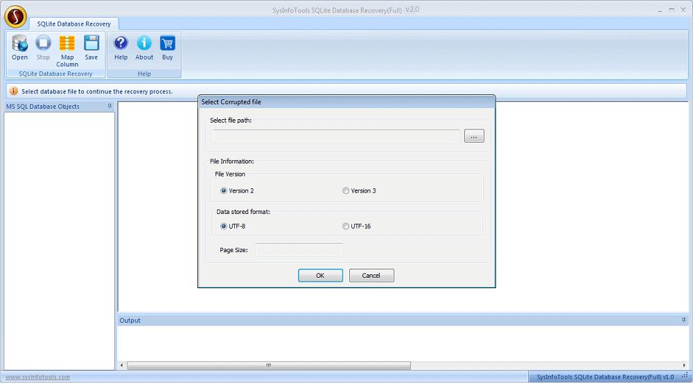 SysInfoTools SQLite Viewer