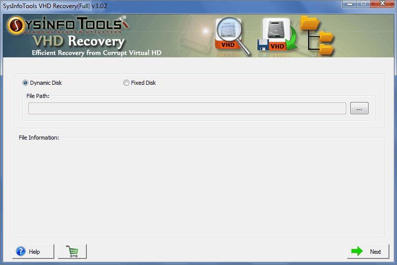 SysInfoTools VHD Recovery Software full screenshot