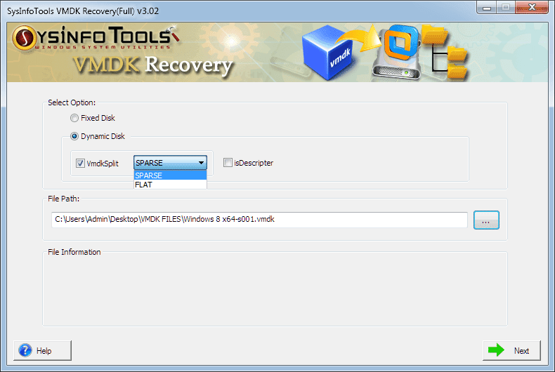 Sysinfo VMDK Recovery Software full screenshot