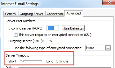 Email setting advanced