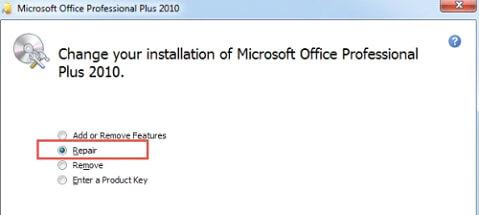 Microsoft office repair