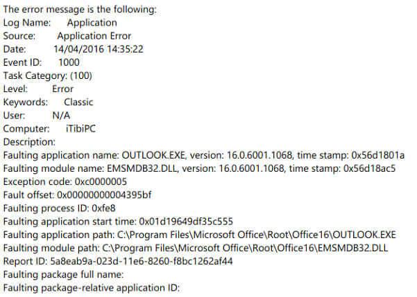 emsmdb32.dll error message
